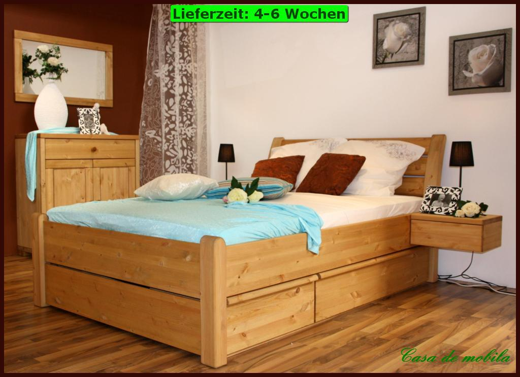 schubladenbett funktionsbett schubkastenbett 160x200 holz kieferbett massiv ebay. Black Bedroom Furniture Sets. Home Design Ideas