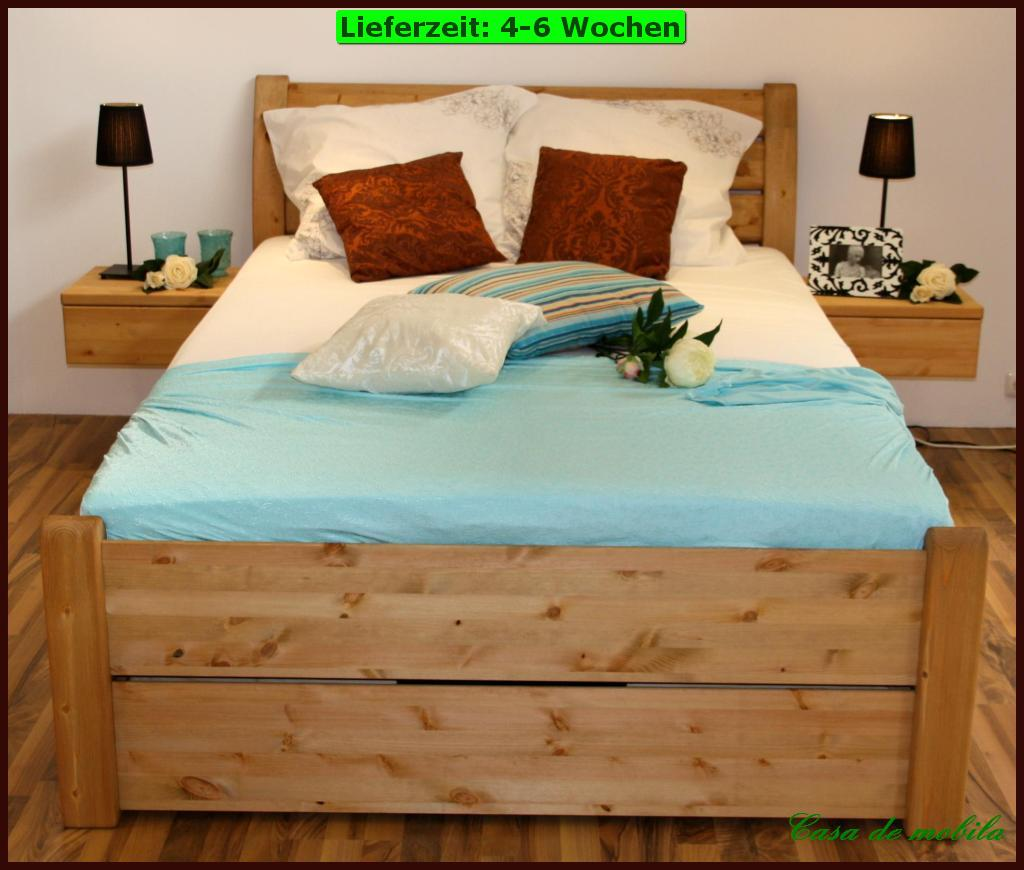 bettgestell doppelbett kiefer lackiert rauna 160x200 niedriges fu teil. Black Bedroom Furniture Sets. Home Design Ideas