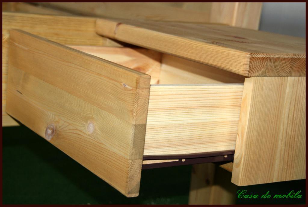 Massivholz bett mit bettkasten kiefer schubladenbett bett for Funktionsbett 160x200