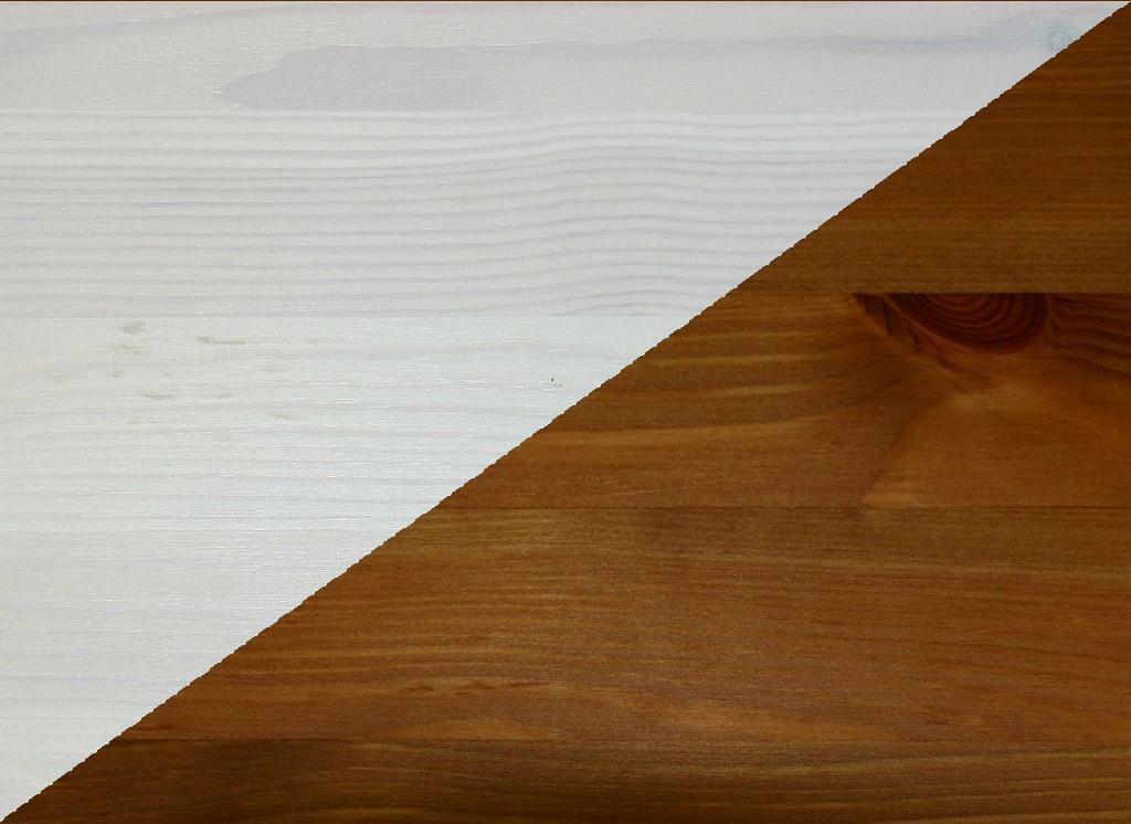 Massivholz Highboard Weiss Wohnzimmerschrank Vitrine Kiefer Massiv Honig