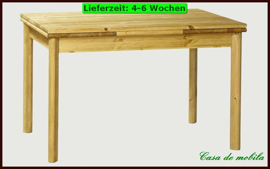 esstisch e tisch esszimmer k chen tisch 120x80 ausziehbar holz kiefer massiv ebay. Black Bedroom Furniture Sets. Home Design Ideas