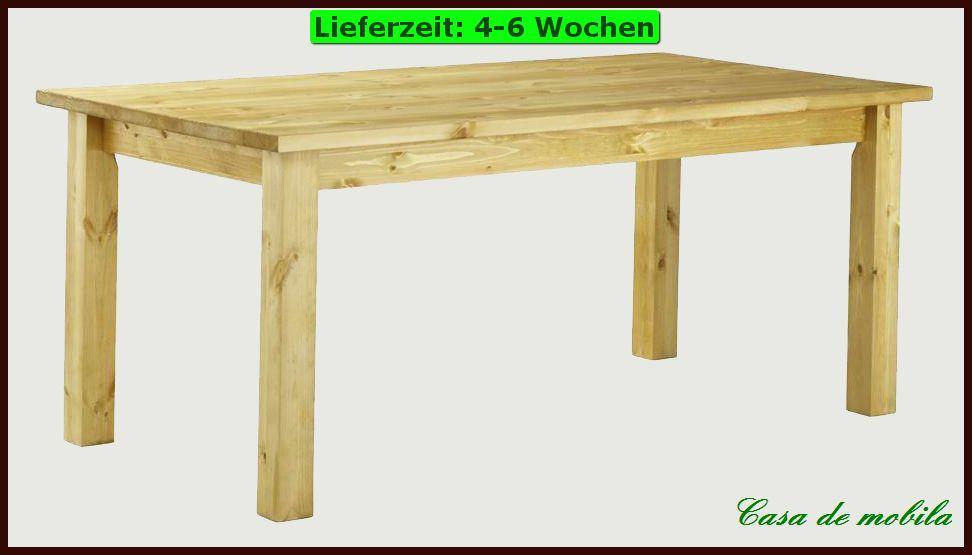 ESSTISCH Tisch 80×80 ausziehbar Küchen Holz Kiefer massiv