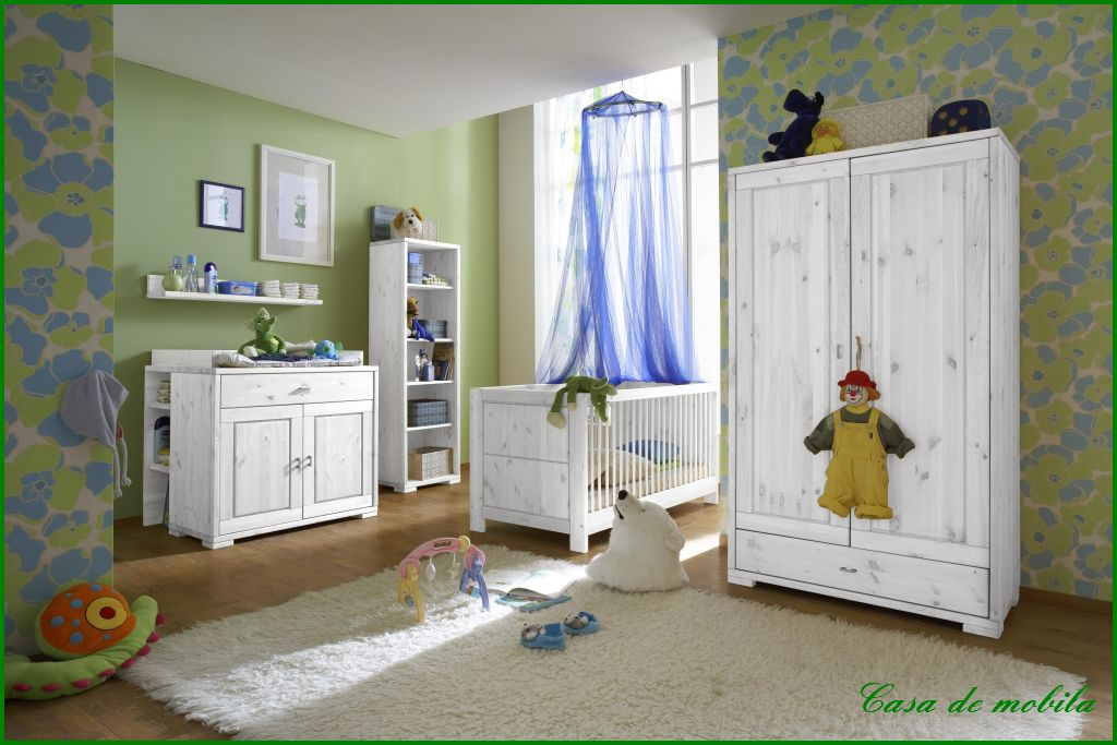 massivholz kinderzimmer kleiderschrank babyzimmer komplett kiefer wei ebay. Black Bedroom Furniture Sets. Home Design Ideas