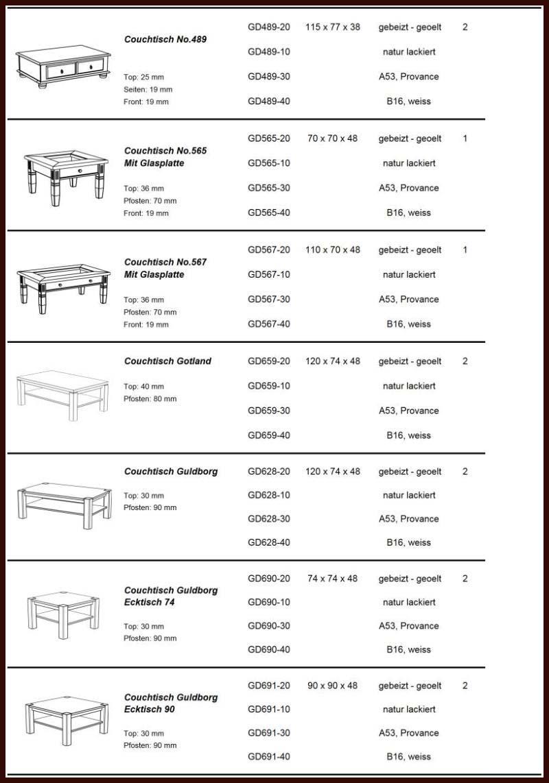 Massivholz COUCHTISCH 74×74 Wohnzimmertisch Beistelltisch