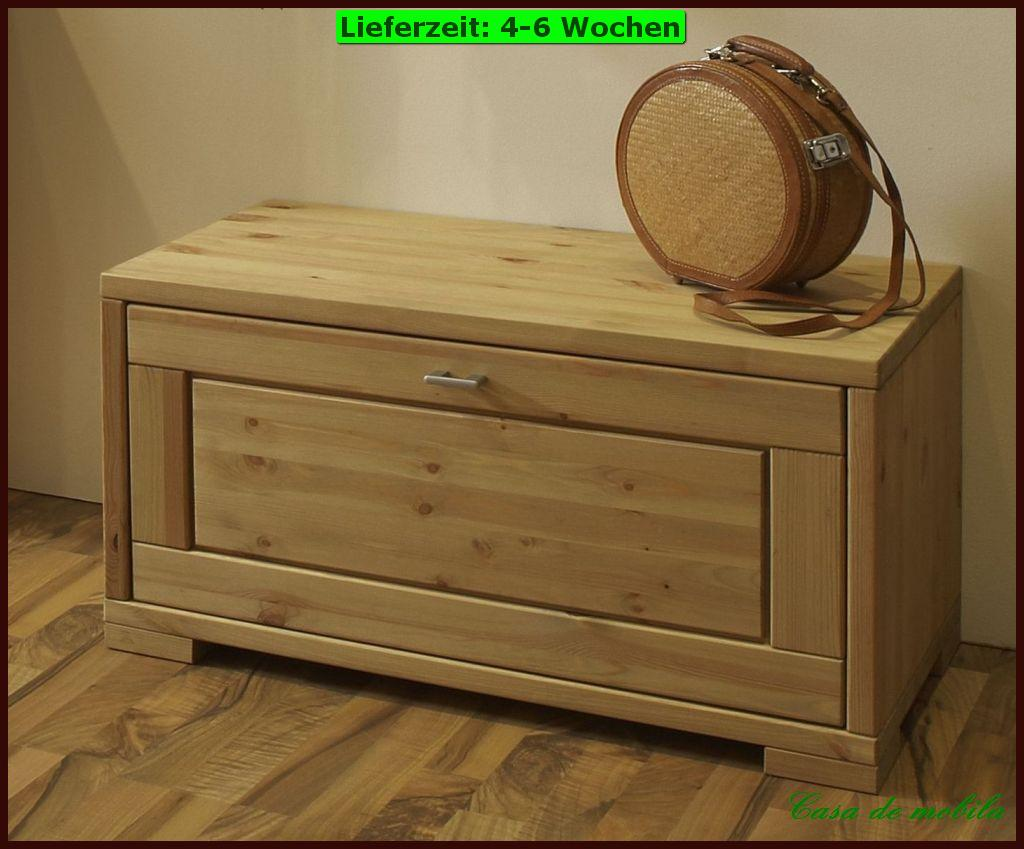 massivholz schuhtruhe sitztruhe truhenbank w schetruhe holz kiefer massiv ge lt ebay. Black Bedroom Furniture Sets. Home Design Ideas