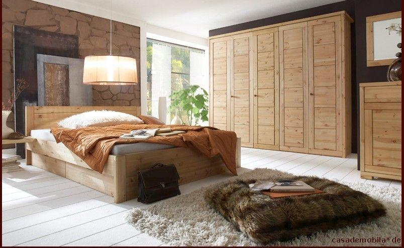 schlafzimmer rauna komplett mit bett 180x200 - massiv gelaugt