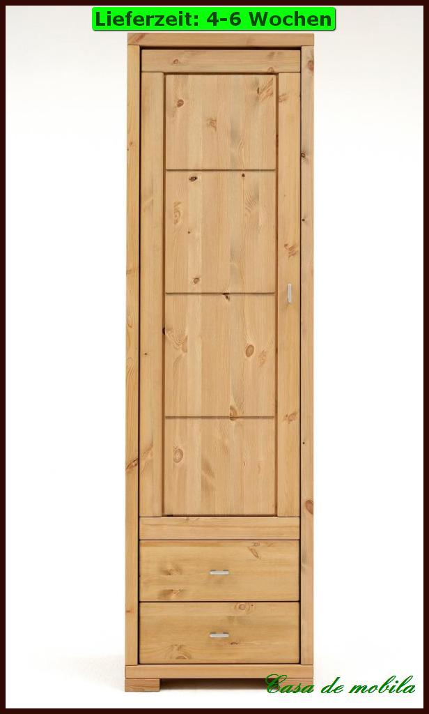 vitrine turm schrank holz kiefer massiv kirsch provance ebay. Black Bedroom Furniture Sets. Home Design Ideas