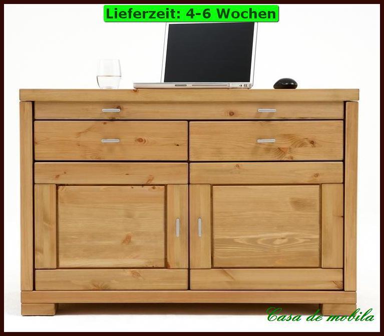 laptop kommode schrank pc schreibtisch holz kiefer massivholz ge lt weiss ebay. Black Bedroom Furniture Sets. Home Design Ideas