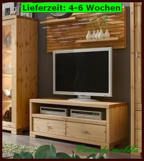 massivholz tv lowboard cd regal phonoschrank kommode schrank holz kiefer massiv ebay. Black Bedroom Furniture Sets. Home Design Ideas