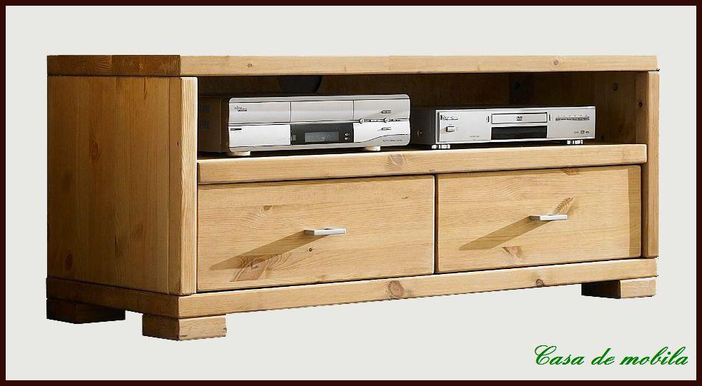 tv lowboard mit cd regal guldborg kiefer massiv gelaugt. Black Bedroom Furniture Sets. Home Design Ideas