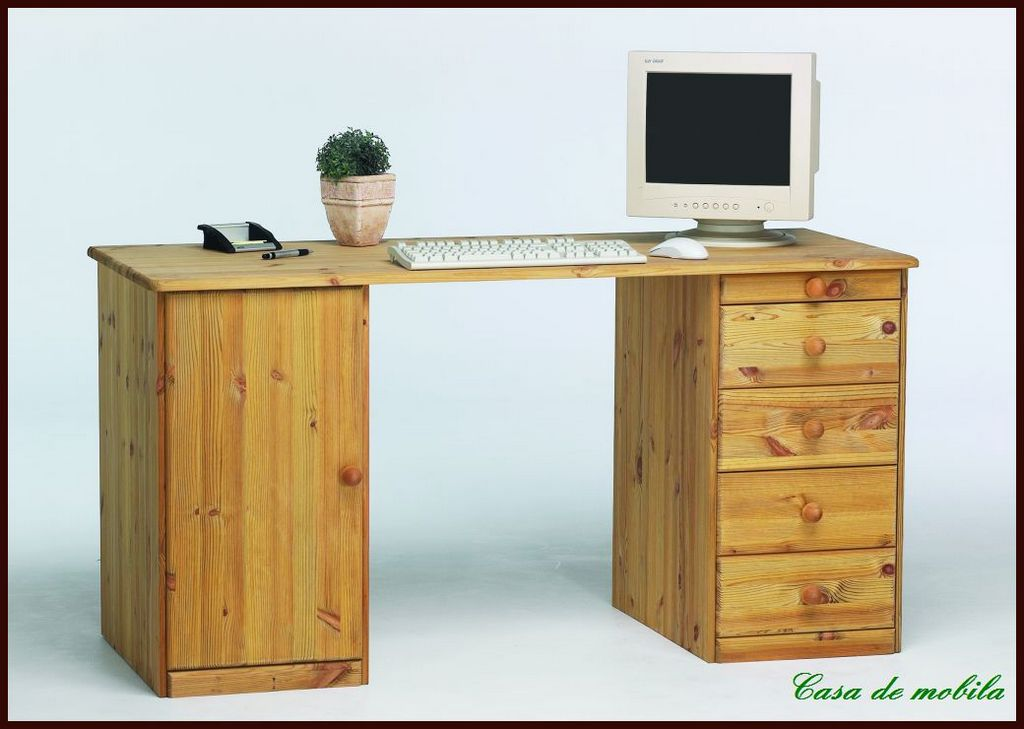 massivholz schreibtisch kinderschreibtisch holz kiefer massiv gelaugt ge lt ebay. Black Bedroom Furniture Sets. Home Design Ideas