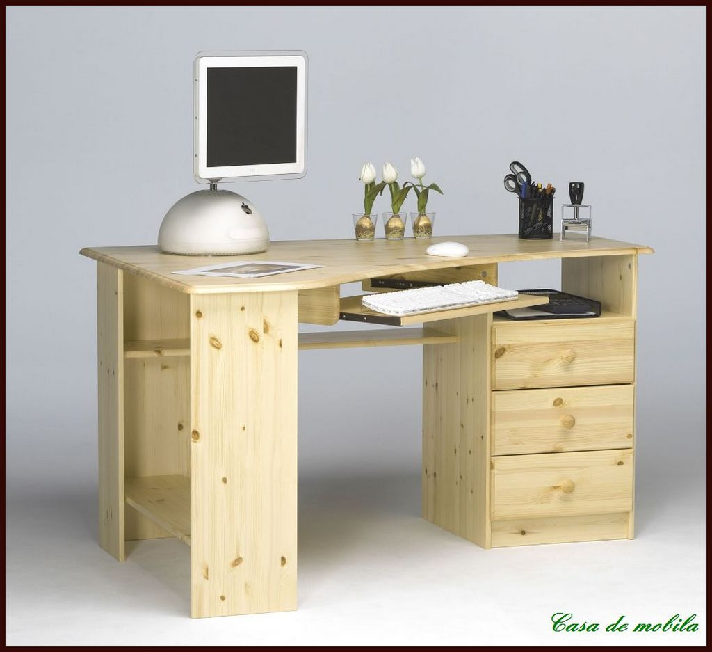 schreibtisch pc eckschreibtisch eck computertisch holz. Black Bedroom Furniture Sets. Home Design Ideas