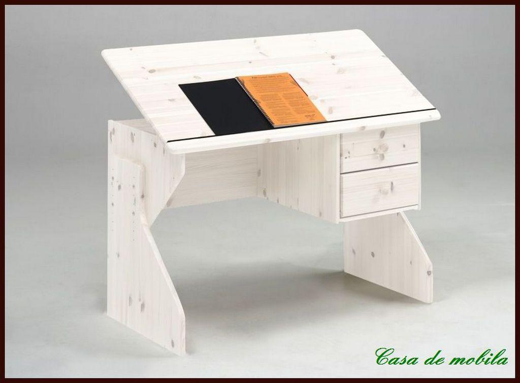 massivholz sch ler schreibtisch h henverstellbarer kinder kiefer massiv wei ebay. Black Bedroom Furniture Sets. Home Design Ideas