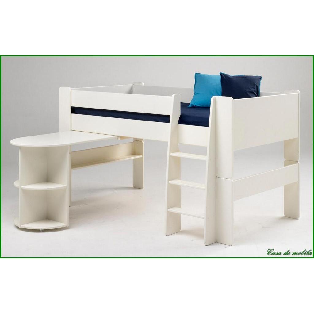 anbau schreibtisch kinder mdf holz wei lackiert ebay. Black Bedroom Furniture Sets. Home Design Ideas