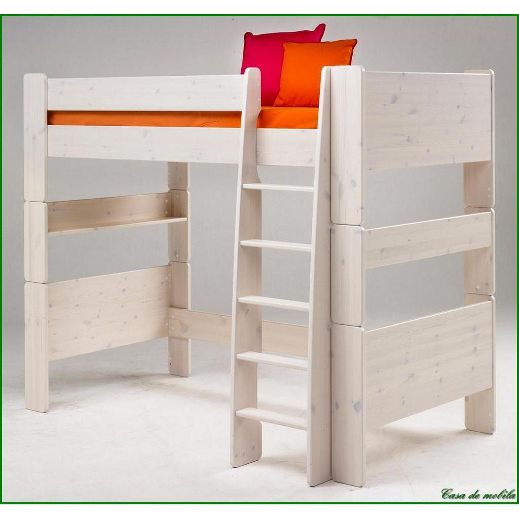 massivholz hochbett kinderbett etagenbett stockbett holz kiefer massiv lackiert ebay. Black Bedroom Furniture Sets. Home Design Ideas