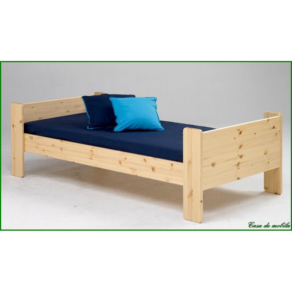 massivholz einzelbett kinderbett jugendbett kiefer bett. Black Bedroom Furniture Sets. Home Design Ideas