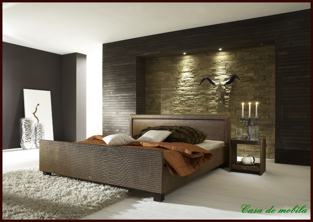 Einzelbett bett 120x200 loom rattan mocca braun dunkel ebay for Einzelbett 120x200