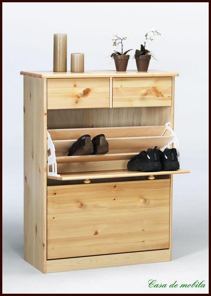 massivholz schuhkommode kiefer schuhschrank schuhkipper. Black Bedroom Furniture Sets. Home Design Ideas