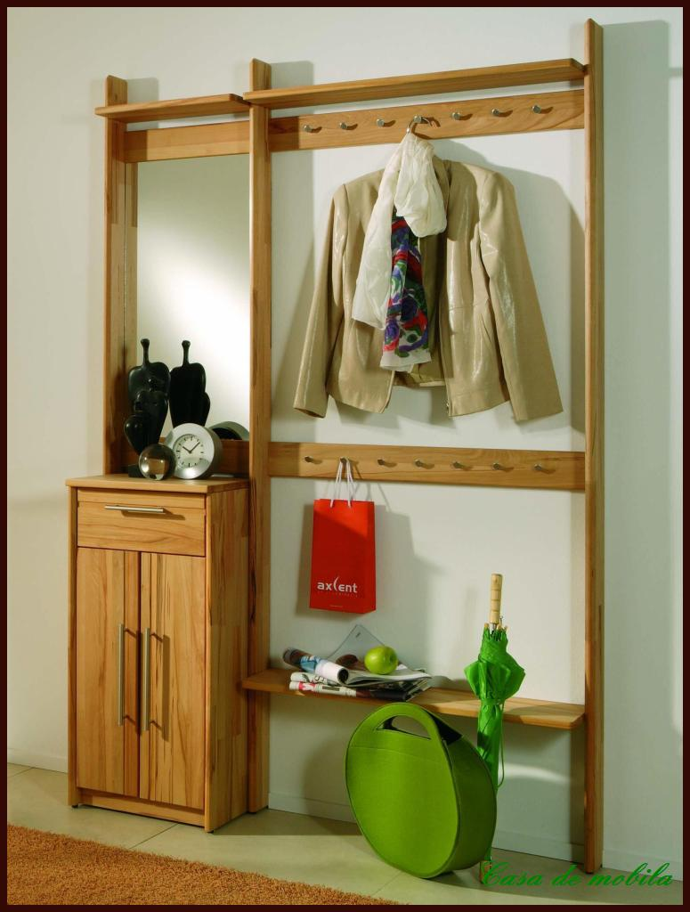 massivholz wandgarderobe garderobe garderoben set holz. Black Bedroom Furniture Sets. Home Design Ideas