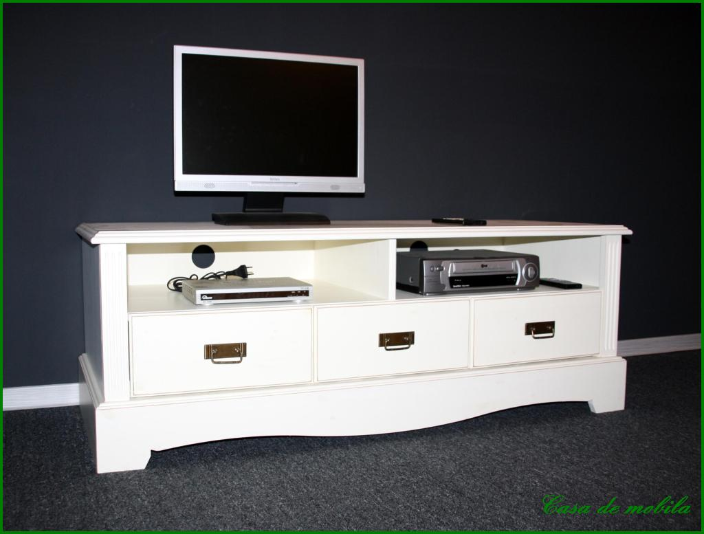 tv lowboard phono kommode fernseh schrank tv m bel massiv holz kiefer antik wei ebay. Black Bedroom Furniture Sets. Home Design Ideas