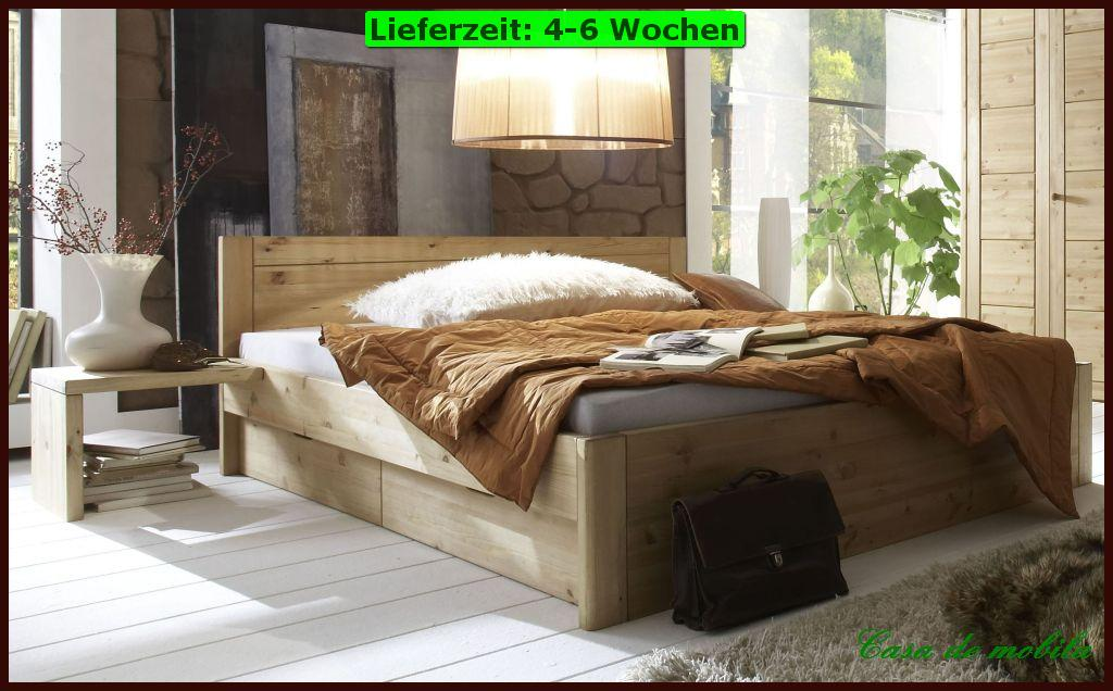 massivholz schubladenbett kiefer massiv funktionsbett bett 200x200 holz wei ebay. Black Bedroom Furniture Sets. Home Design Ideas