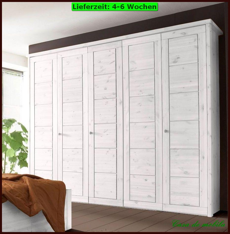 kleiderschrank dielenschrank schrank mehrzweckschrank massivholz naturo weiss ebay. Black Bedroom Furniture Sets. Home Design Ideas