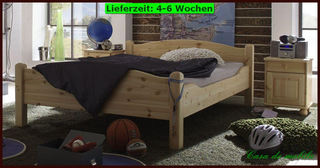 einzelbett berl nge g ste jugend bett bergro e 120x220 holz kiefer massiv wei ebay. Black Bedroom Furniture Sets. Home Design Ideas