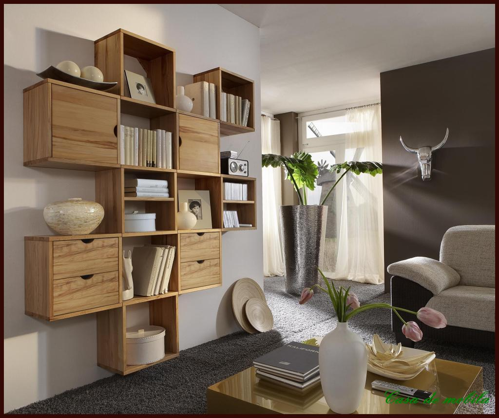 wandregal set wohnzimmer regal dvd cd h nge regale massiv. Black Bedroom Furniture Sets. Home Design Ideas