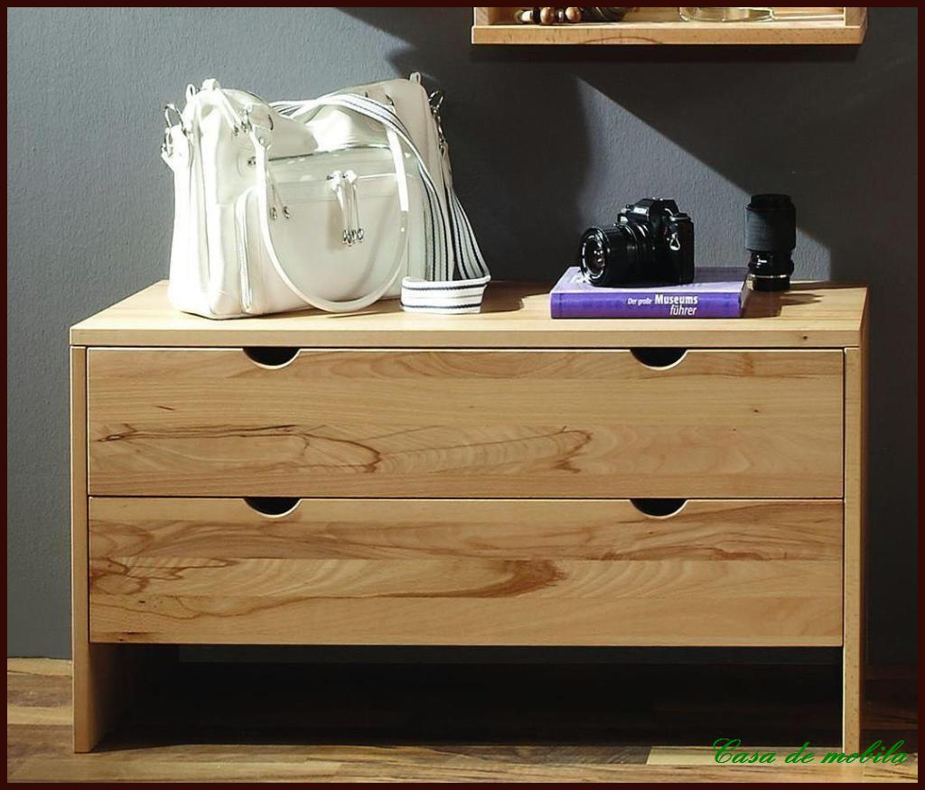 kommode mit schubladen schrank flur anrichte kernbuche buche massiv holz ge lt ebay. Black Bedroom Furniture Sets. Home Design Ideas