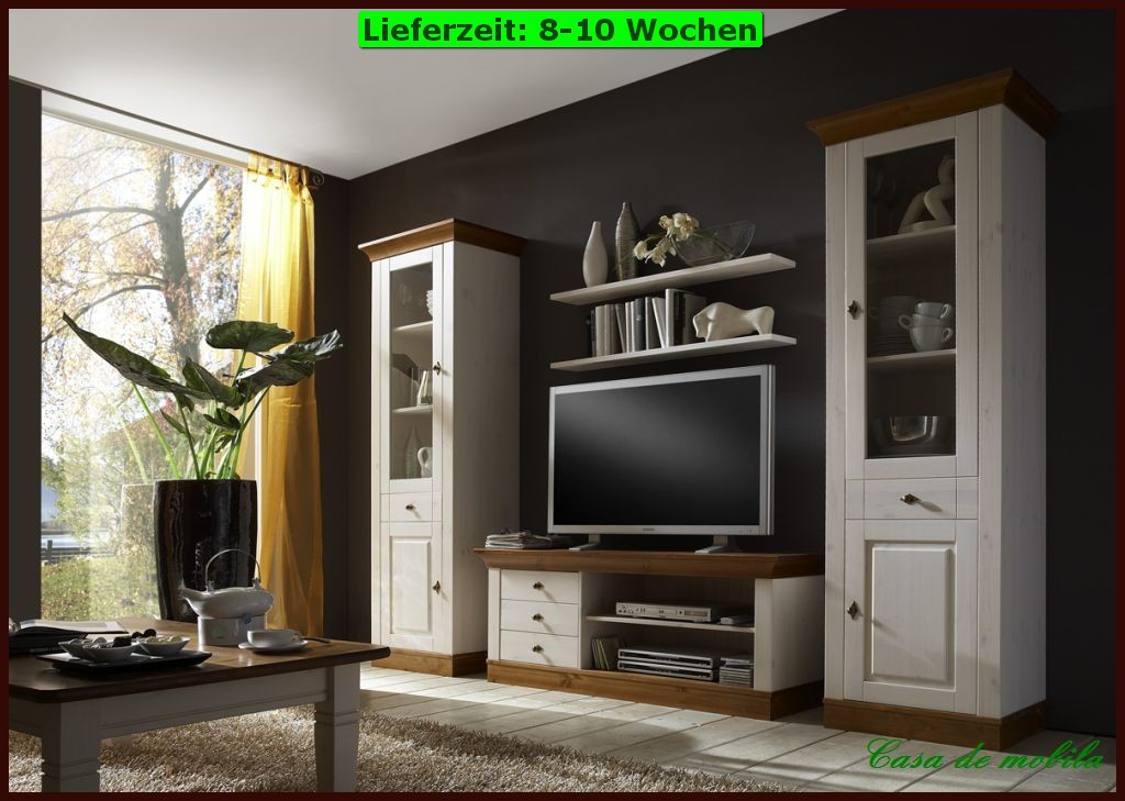 massivholz wohnwand kiefer anbauwand schrankwand kiefern holz massiv wei ebay. Black Bedroom Furniture Sets. Home Design Ideas