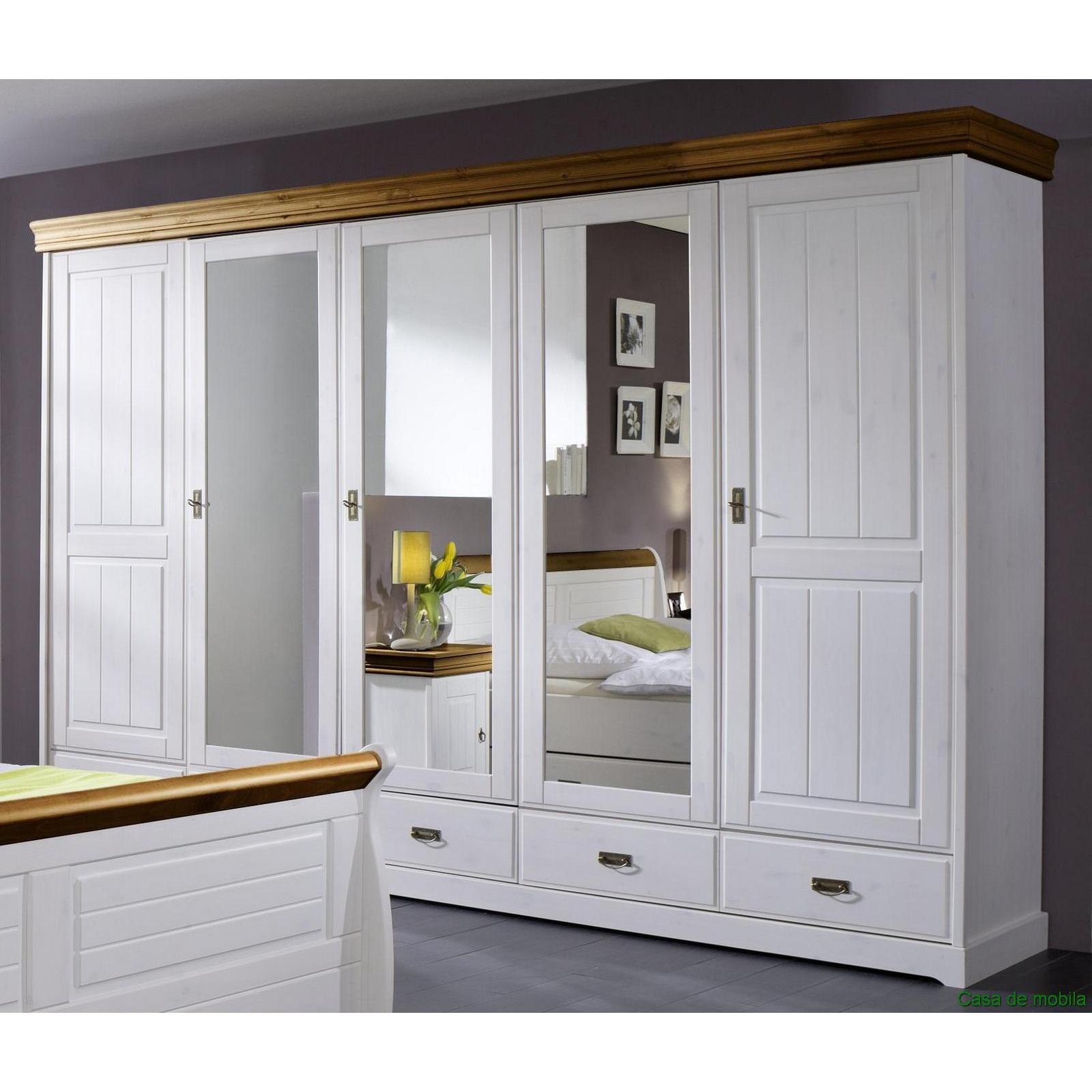 Massivholz schlafzimmer set komplett kiefer 4 teilig 2 farbig wei honigfarben ebay - Schlafzimmer bei ebay ...