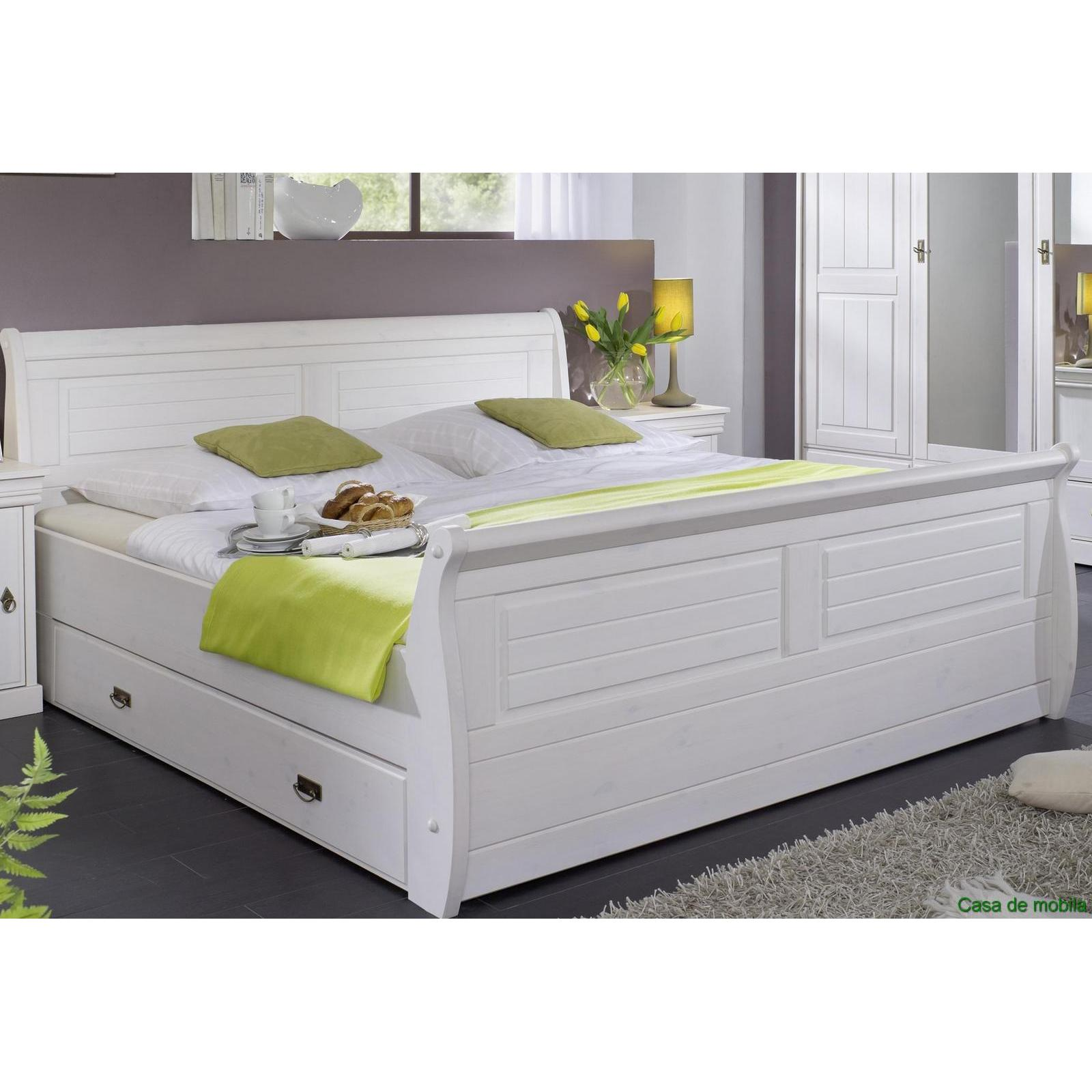 massivholz schlafzimmer kiefer komplett 4 teilig rom wei gewachst. Black Bedroom Furniture Sets. Home Design Ideas