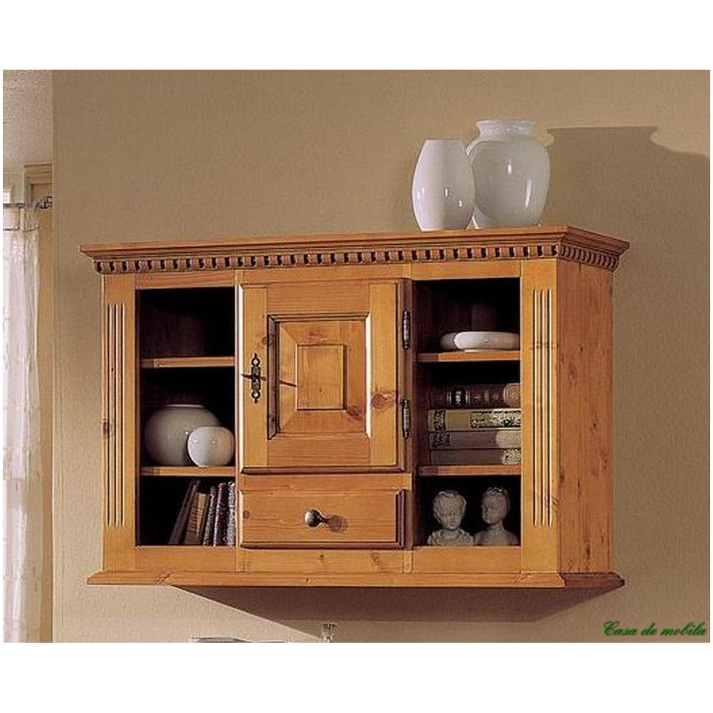 massivholz h ngeschrank holz fichte massiv honig h ngevitrine cortina lackiert ebay. Black Bedroom Furniture Sets. Home Design Ideas