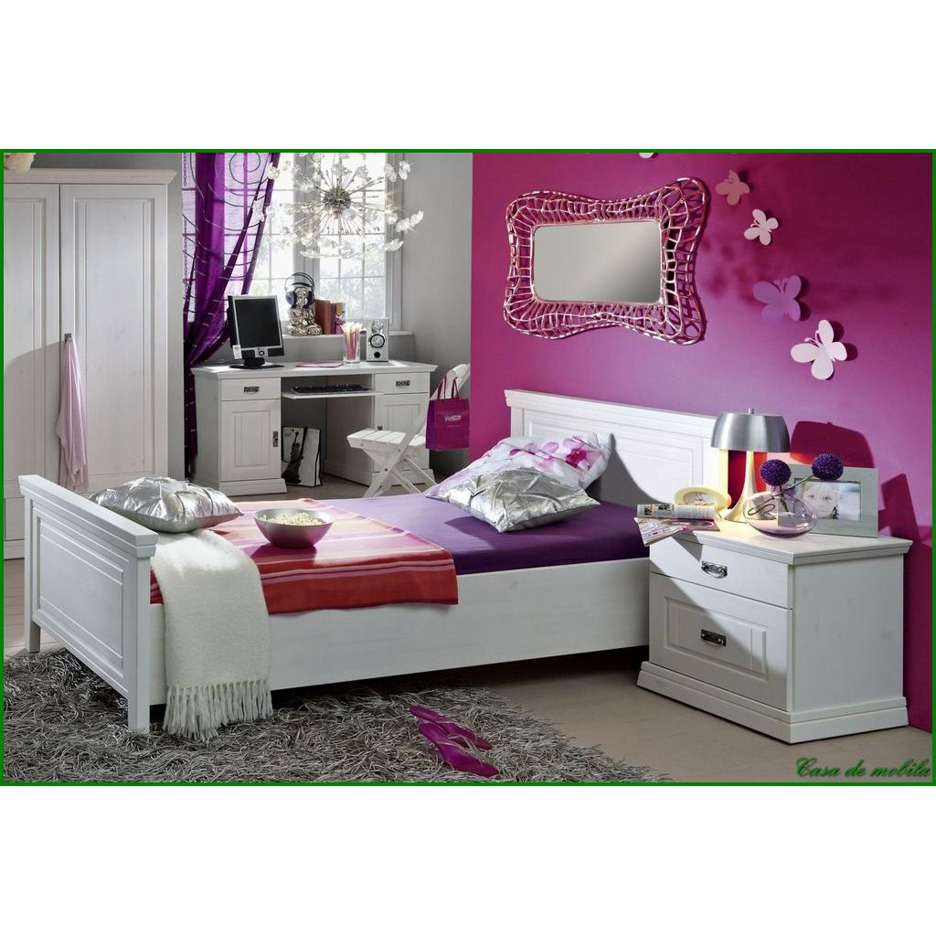 neu massivholz jugendbett kinderbett bett 100x200 holz kiefer massiv wei weiss ebay. Black Bedroom Furniture Sets. Home Design Ideas