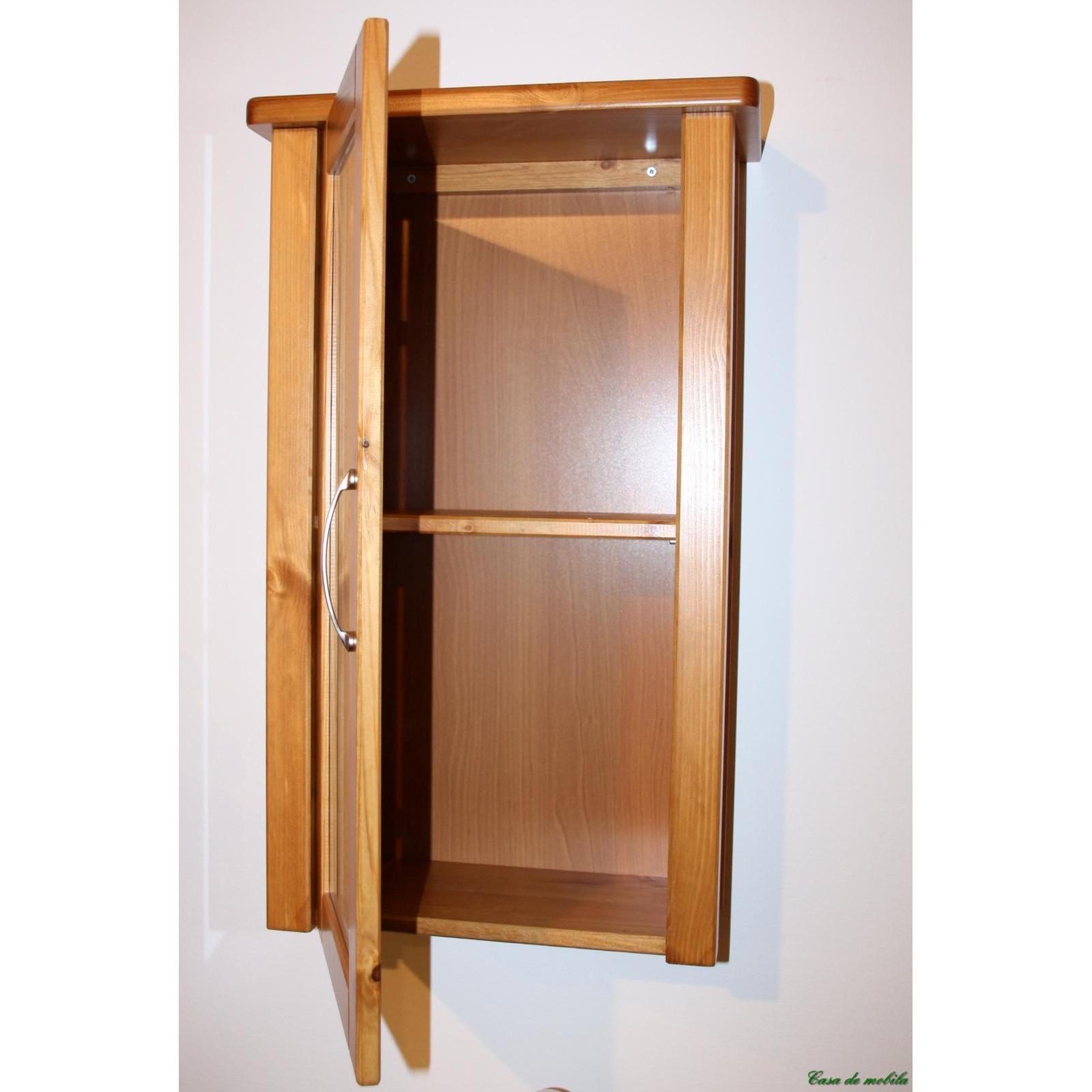 massivholz badschrank hochschrank bad m bel kiefer massiv honig lackiert venedig ebay. Black Bedroom Furniture Sets. Home Design Ideas