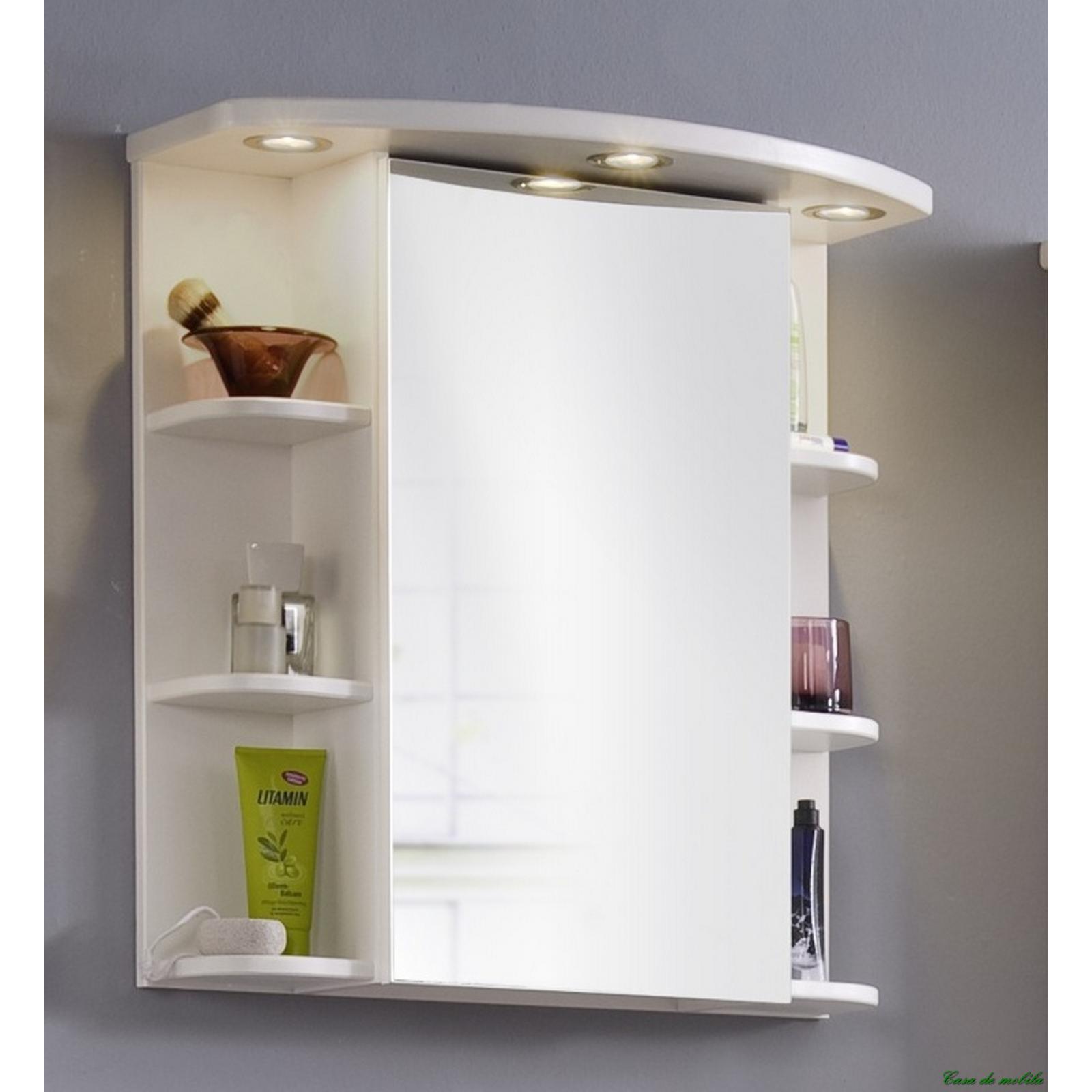 Spiegelschrank holz weiß  Badezimmer Spiegelschrank Beleuchtung Holz: Spiegelschr?nke nach ...