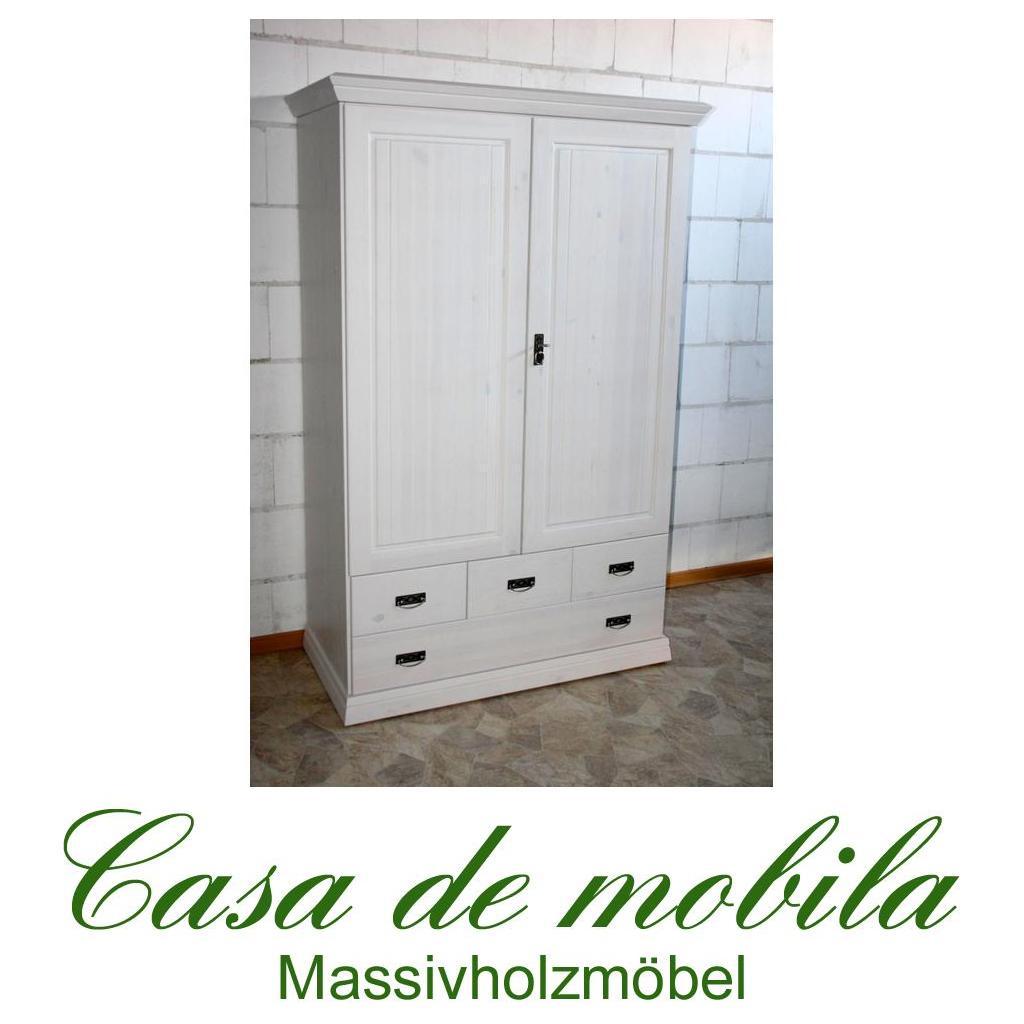 massivholz kleiderschrank kiefer w scheschrank schrank holz massiv wei lasiert ebay. Black Bedroom Furniture Sets. Home Design Ideas