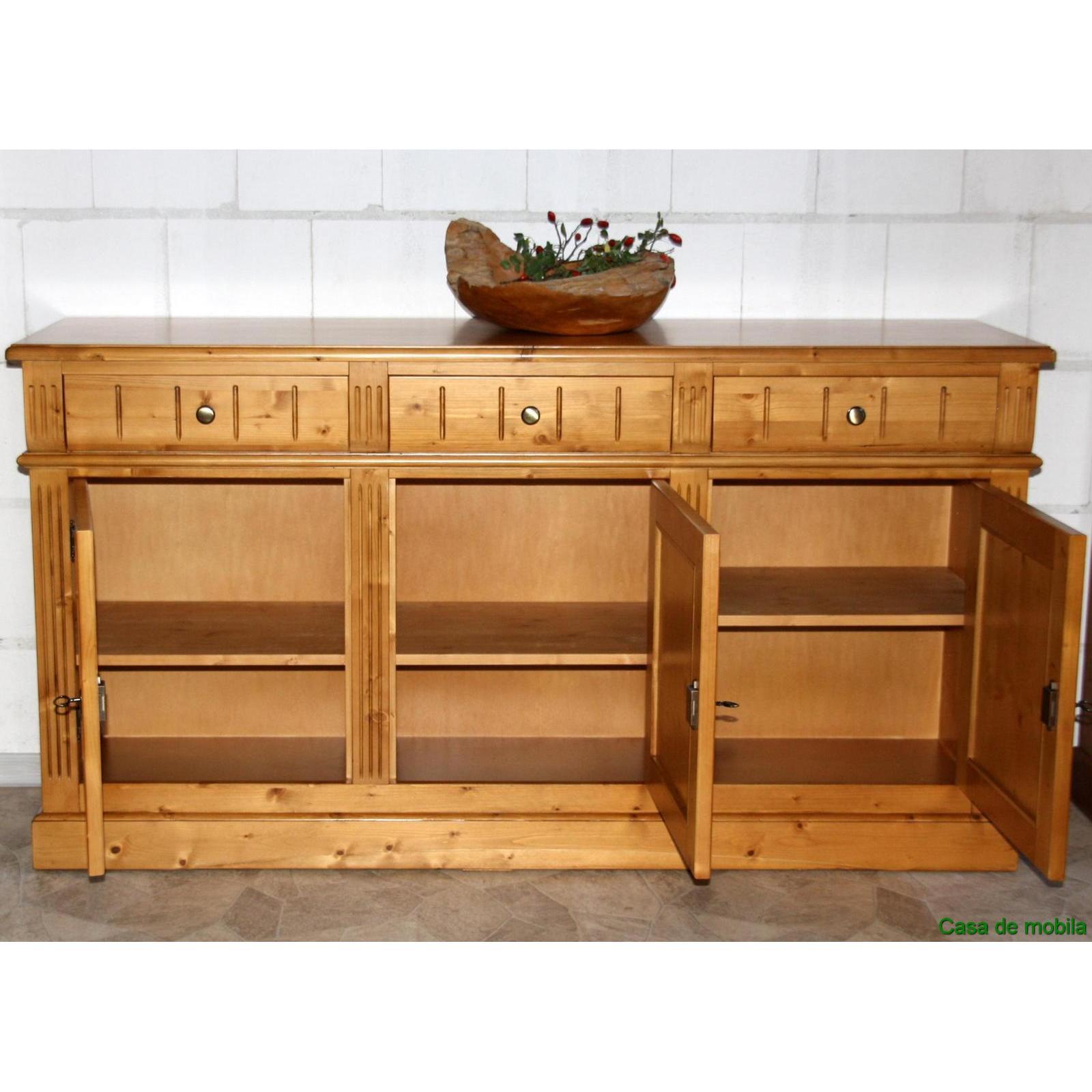 massivholz sideboard anrichte holz fichte massiv honig kommode 3 t rig cortina ebay. Black Bedroom Furniture Sets. Home Design Ideas