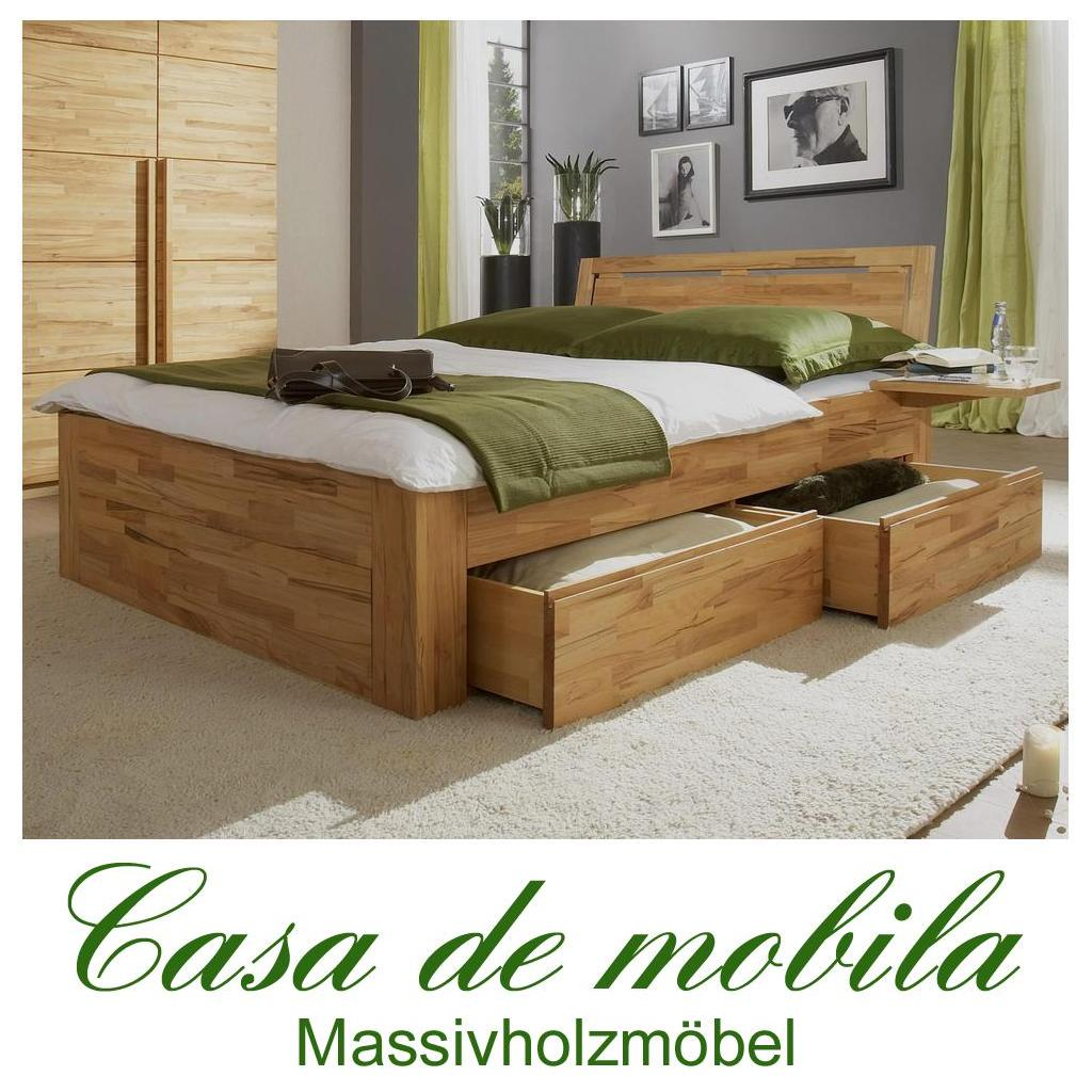 massivholz schubladenbett kernbuche buche massiv caro 120x200 bett mit schubladen. Black Bedroom Furniture Sets. Home Design Ideas
