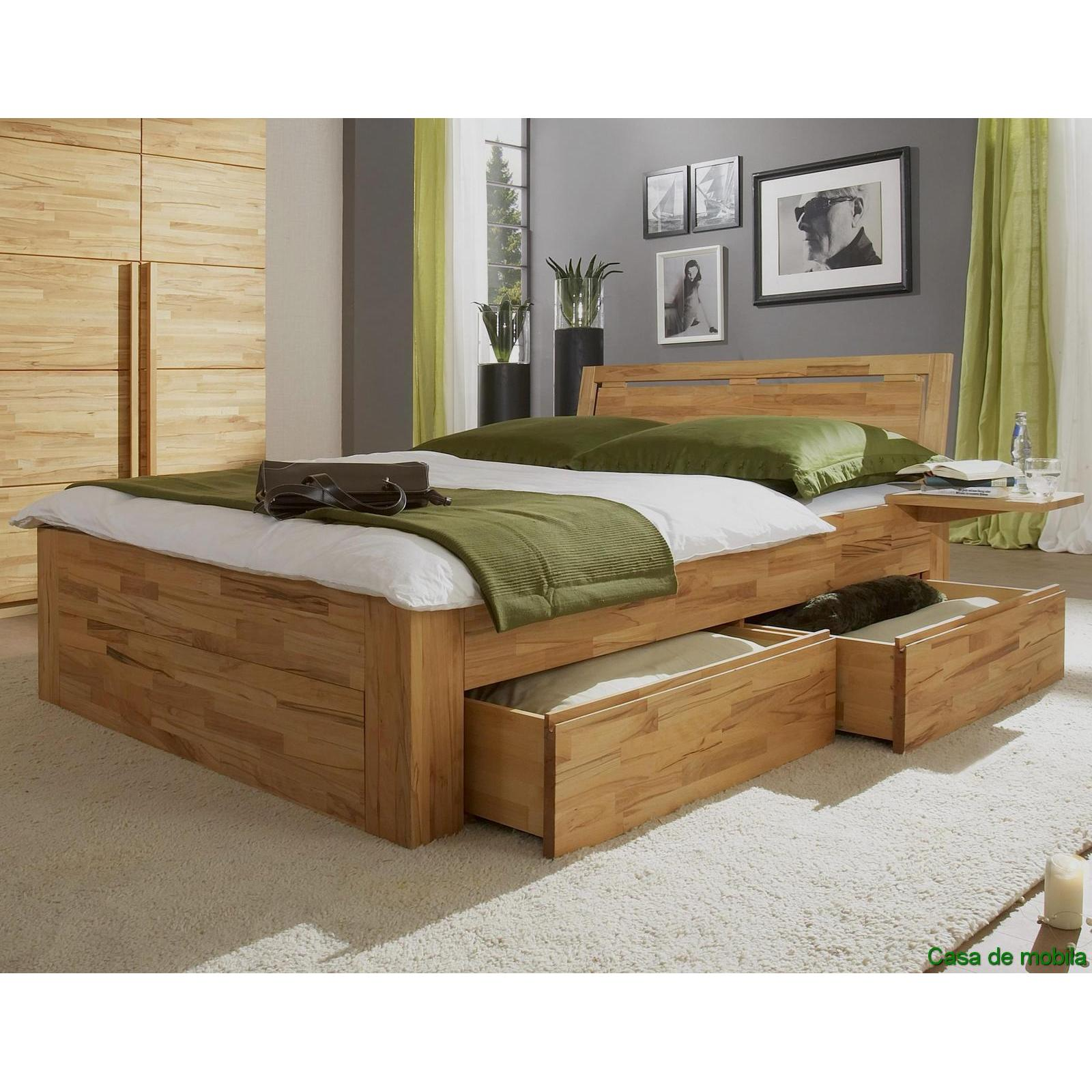 bett 160x200 holz images. Black Bedroom Furniture Sets. Home Design Ideas