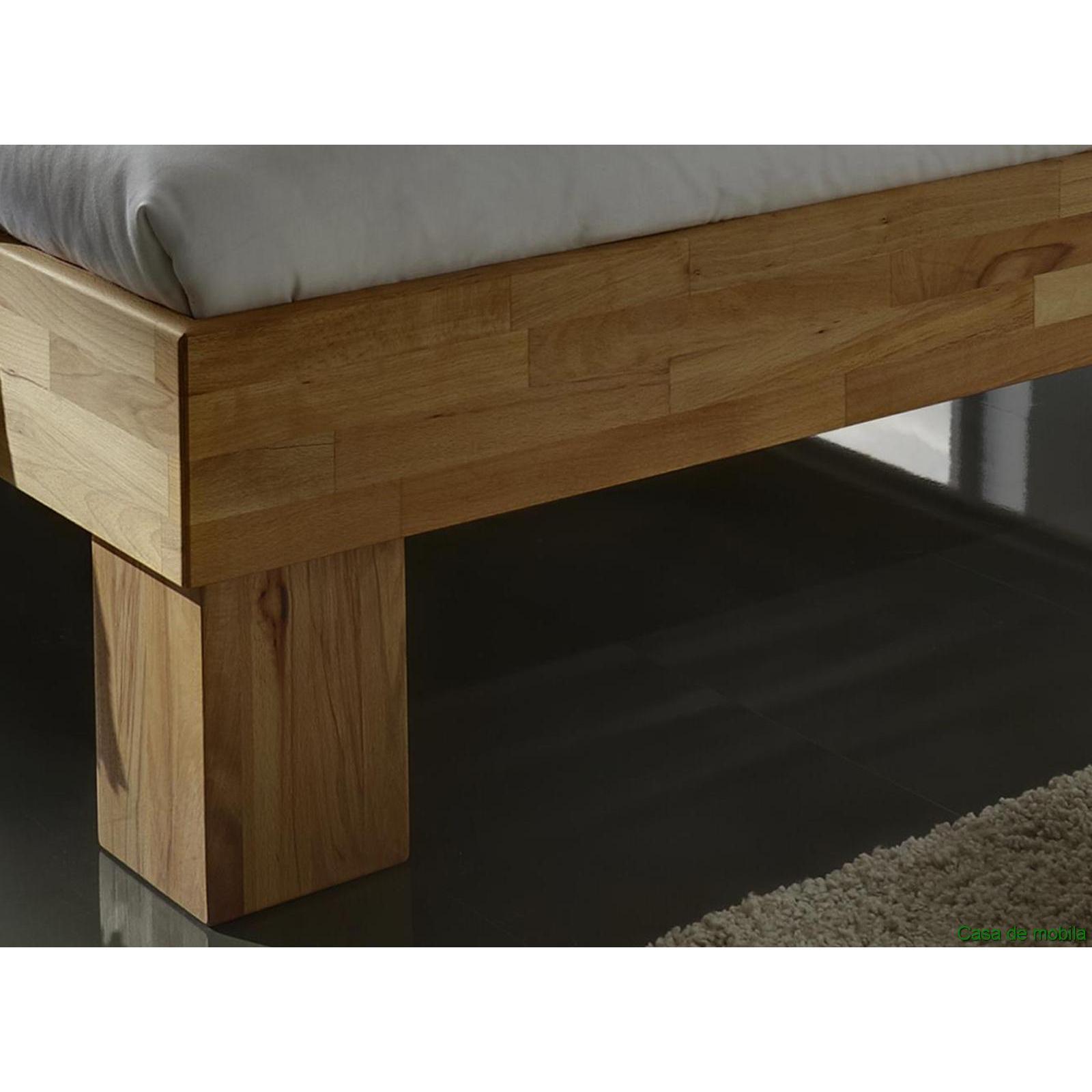 einzelbett bett rahmen jugendbett bettgestell 90x200 kernbuche massiv holz ge lt ebay. Black Bedroom Furniture Sets. Home Design Ideas