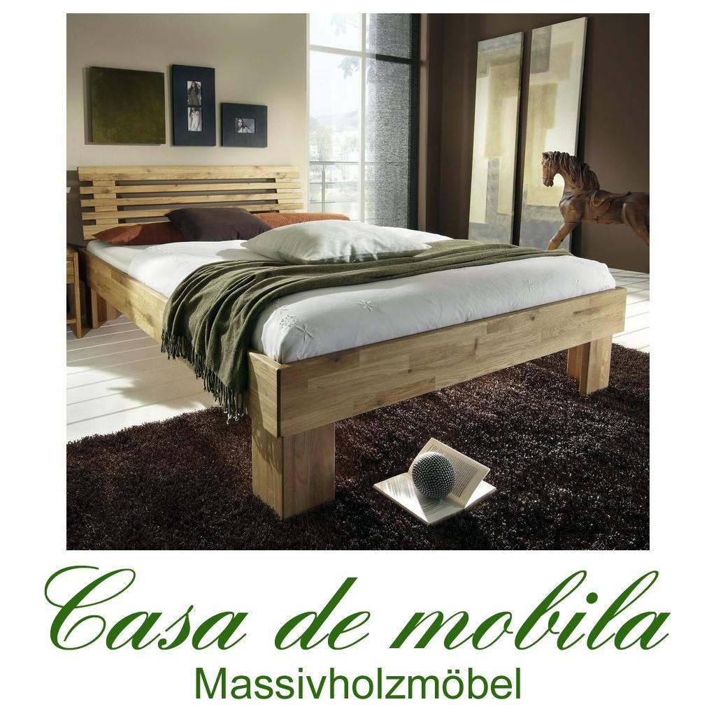 vollholz bett eiche massiv holzbett gamma 140x200. Black Bedroom Furniture Sets. Home Design Ideas