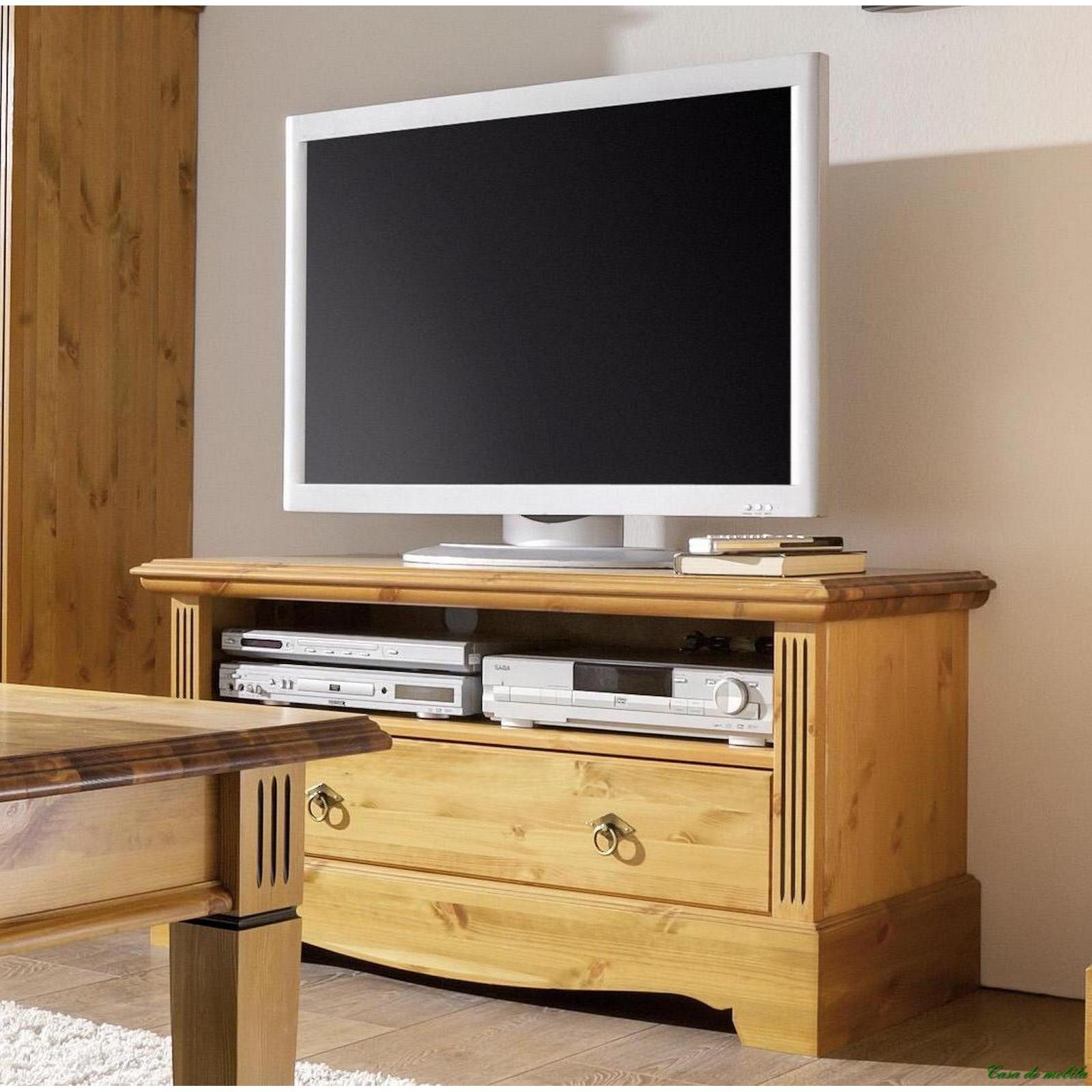 massivholz tv lowboard tv schrank holz kiefer massiv honig tv kommode goldbraun. Black Bedroom Furniture Sets. Home Design Ideas