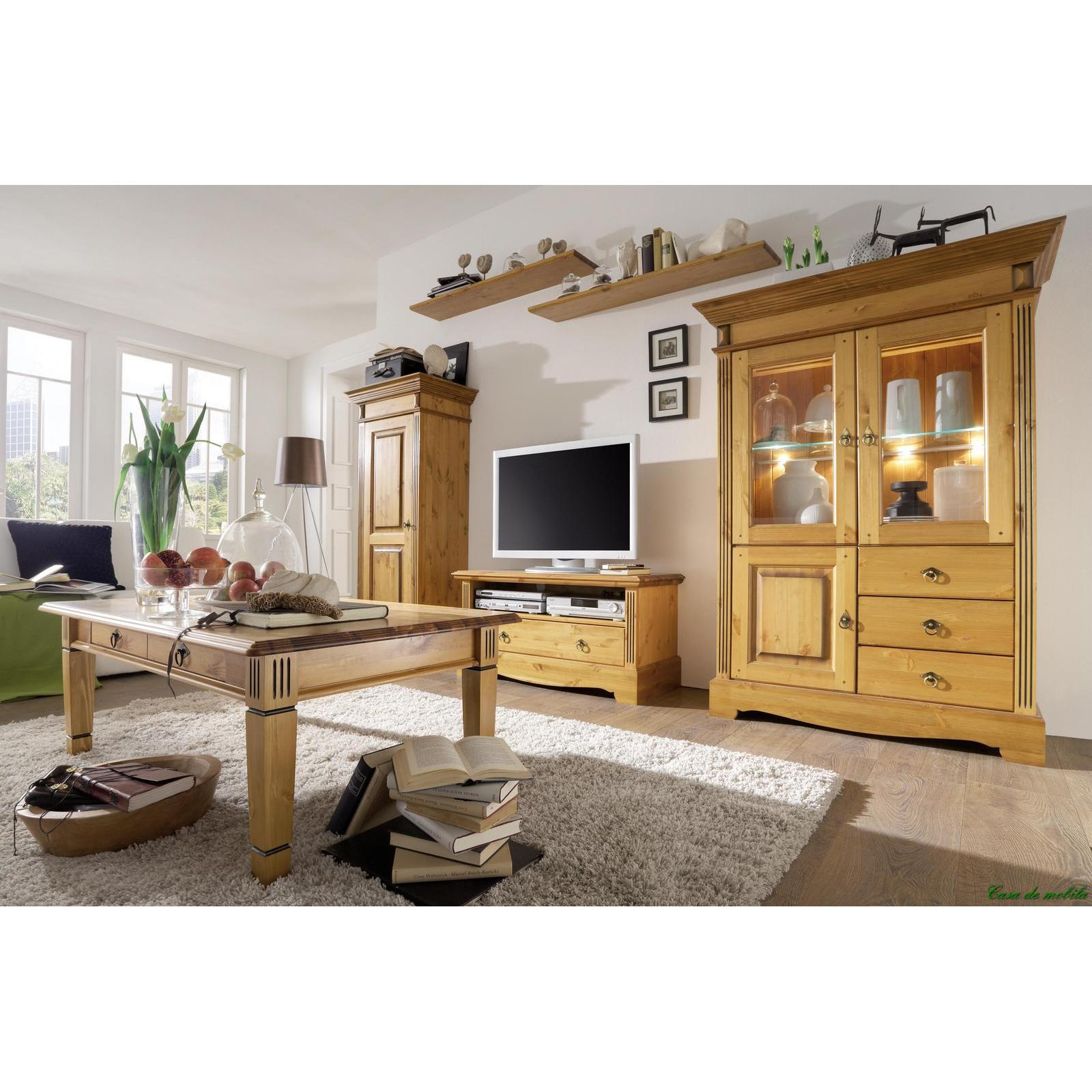 massivholz tv lowboard tv schrank holz kiefer massiv honig tv kommode goldbraun. Black Bedroom Furniture Sets. Home Design Ideas