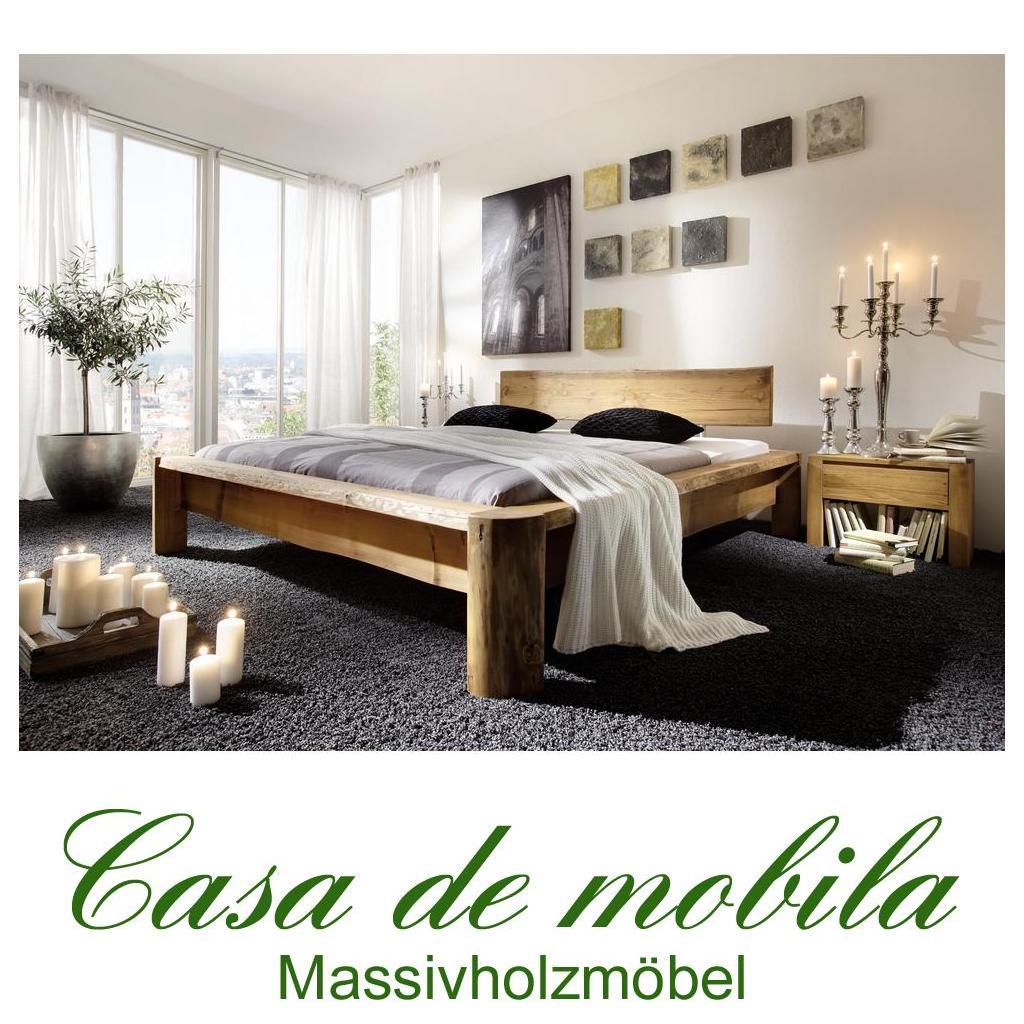 massivholz balkenbett 140x200 cm kiefer massiv antik. Black Bedroom Furniture Sets. Home Design Ideas