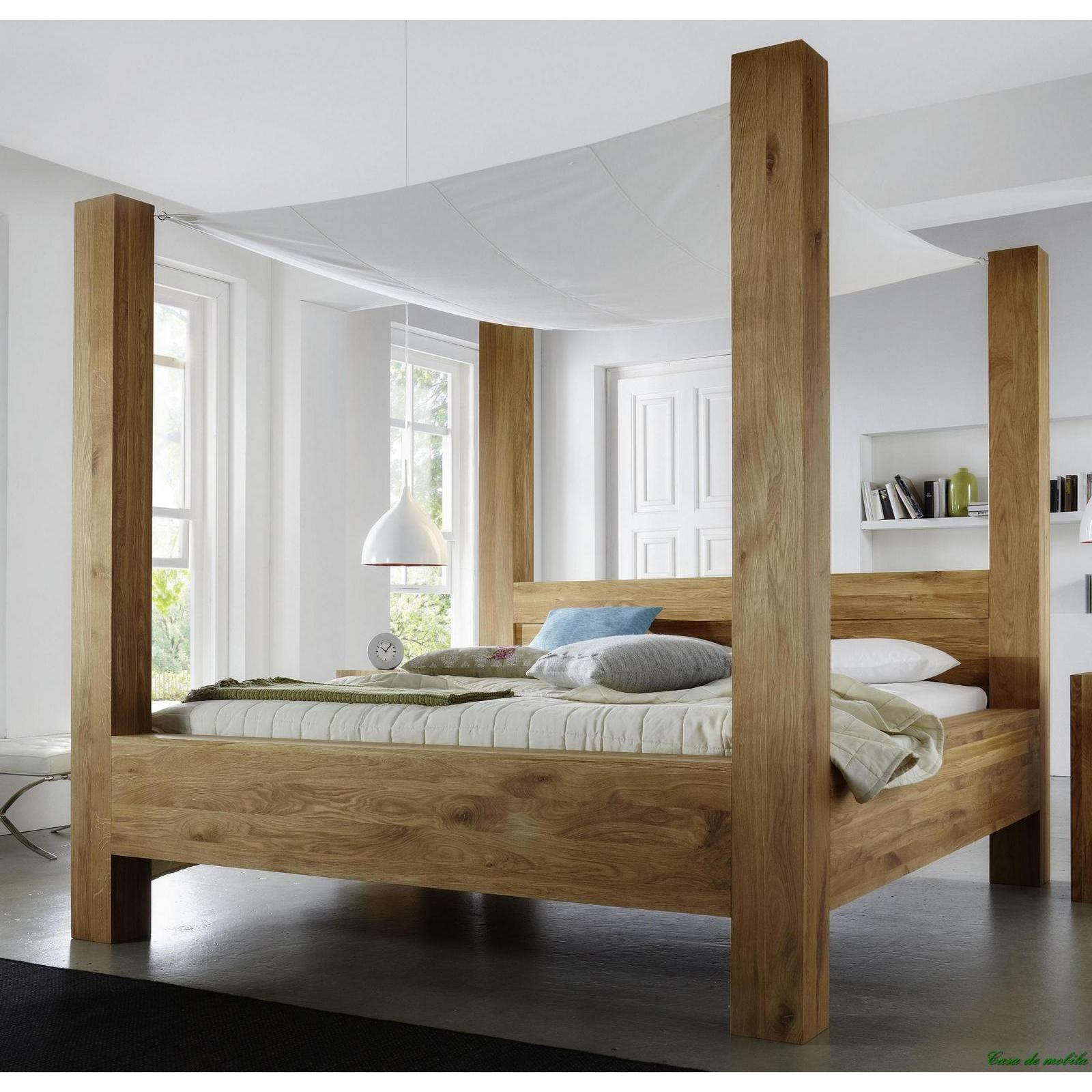 himmelbett holz 180x200 traumhaftes luxus himmelbett aus massiven akazien holz bett mit stoff. Black Bedroom Furniture Sets. Home Design Ideas