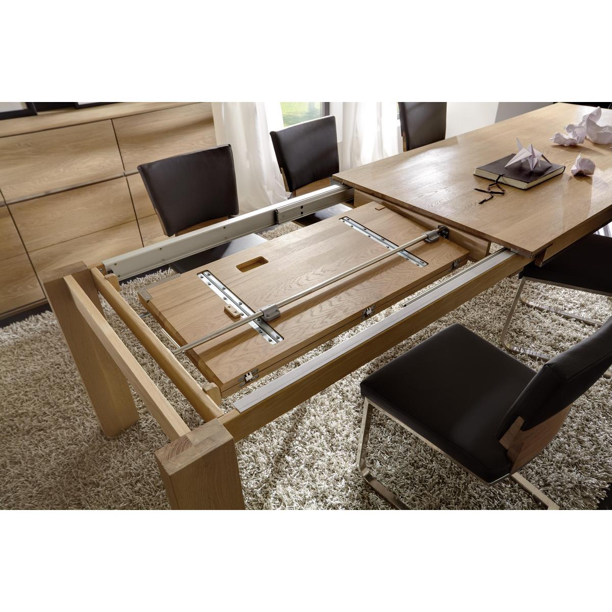tisch ausziehbar wildeiche massiv ge lt 220x95 acerro. Black Bedroom Furniture Sets. Home Design Ideas