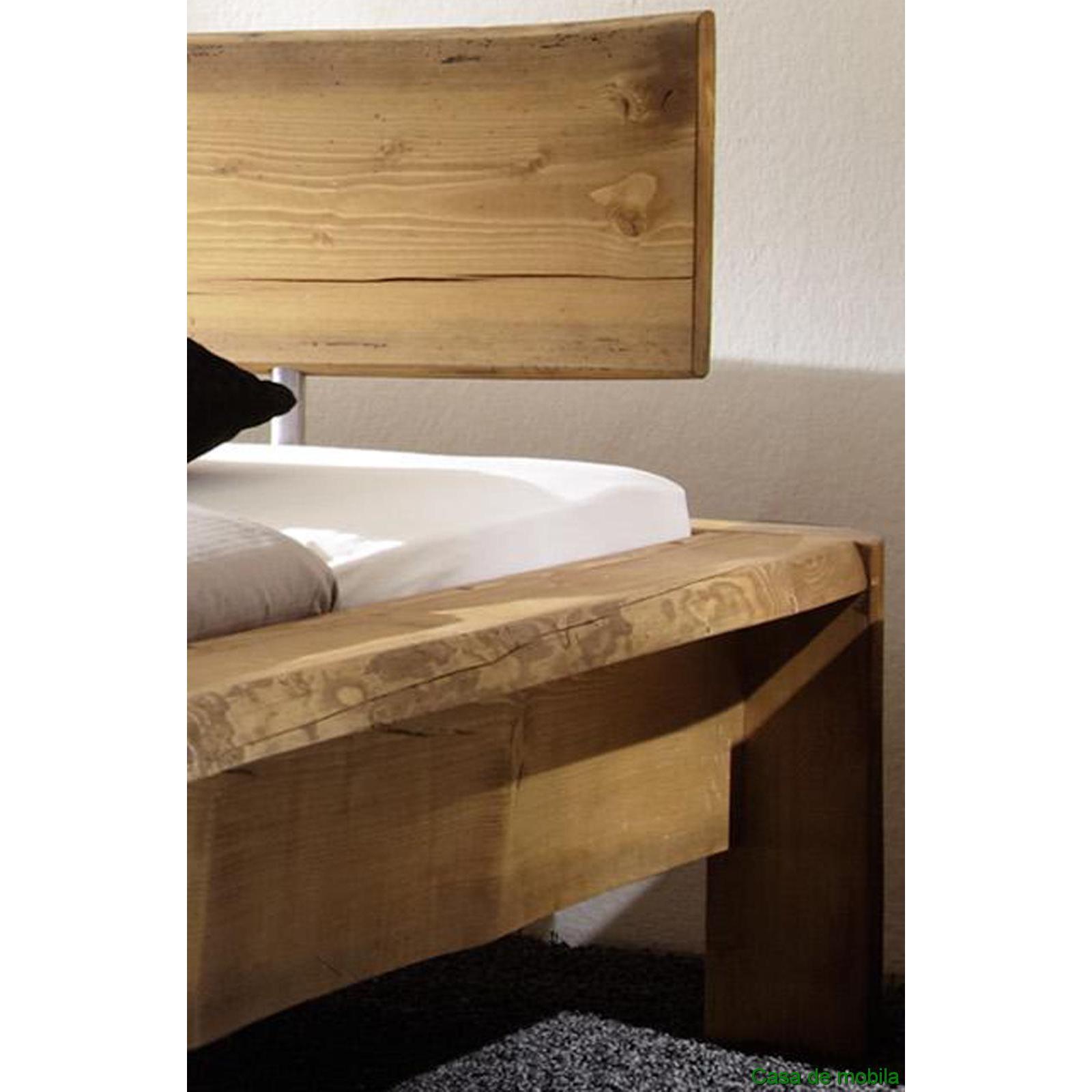 Echtholz Bett Antik 140x200 Kiefer Fichte Massiv Gebeizt