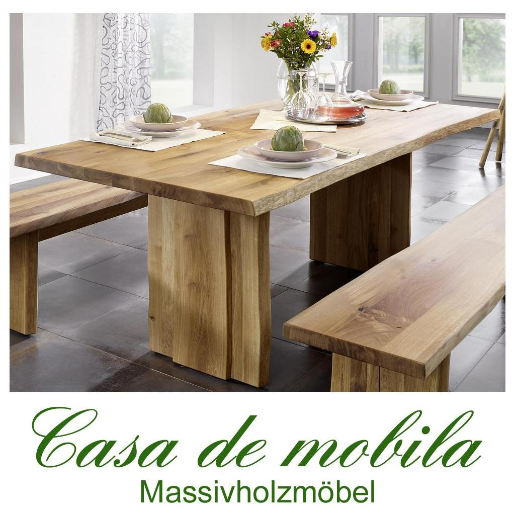 vollholz k chentisch esstisch tisch holz wildeiche eiche massiv ge lt 200x100 cm ebay. Black Bedroom Furniture Sets. Home Design Ideas