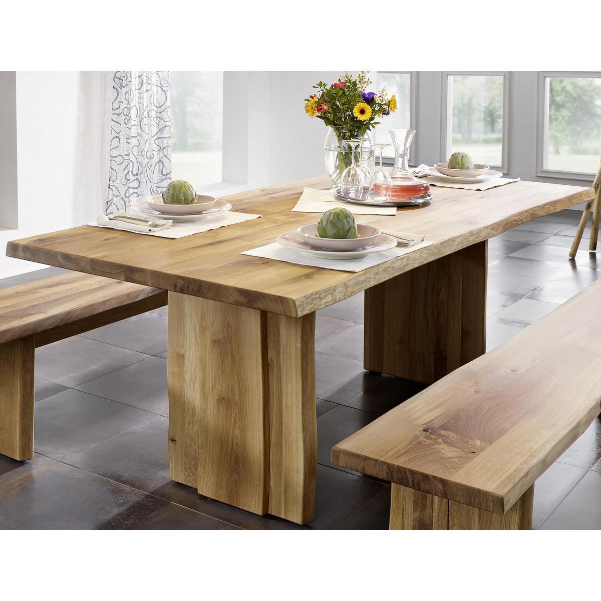 Massivholz baumtisch esstisch k chen tisch 240x100 holz for Esstisch 240x100